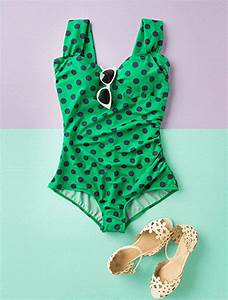 polka dot one piece swimsuit | Tumblr