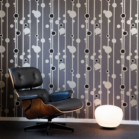 modern retro wallpaper wallpaper in modern design inmod style