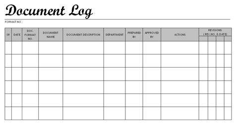 master document register template excel