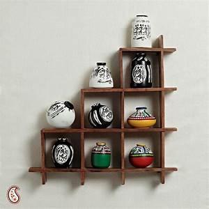Wall decor with miniature pots-Home Decor-Apno Rajasthan