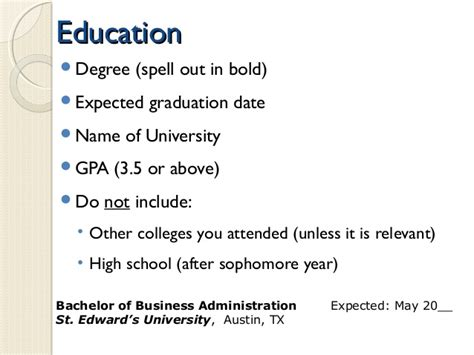 Resume Expected Graduation Date by Resume Education Anticipated Graduation Date