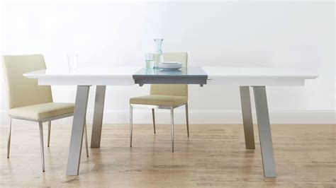 grey and white dining table extending white and grey gloss dining table uk