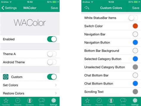 whatsapp color whatsapp as 237 es como puedes cambiar de color la