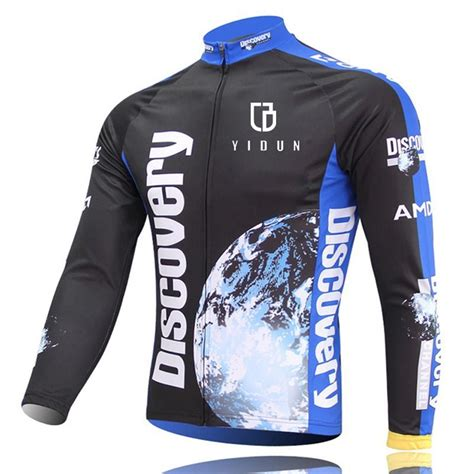 mens thermal cycling jacket men 39 s thermal winter cycling jersey long sleeve fleece