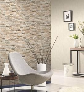 Wohnzimmergestaltung Mit Tapeten : vliestapete stein 3d optik beige mauer p s 02363 10 steintapeten tapeten in steinoptik ~ Sanjose-hotels-ca.com Haus und Dekorationen
