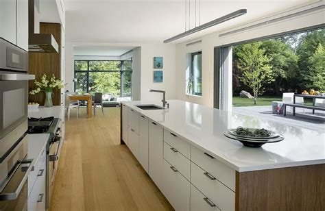 Kitchen Island Sink Position by Indoor Outdoor Kitchen And Living Room In
