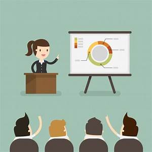 Business woman in a presentation Vector
