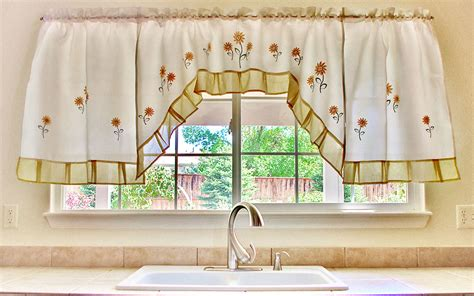 White Kitchen Curtains With Sunflowers by White Kitchen Curtains With Sunflowers Medium Size Of