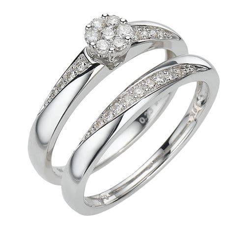 9ct white gold 30pt brilliant cut diamond bridal ernest jones