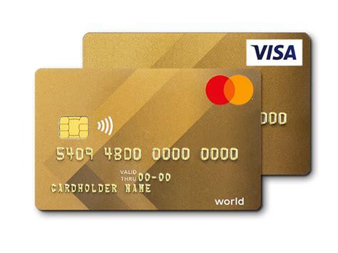 visamastercard gold kreditkarte viseca card services
