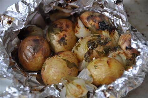 papillote de pommes de terre au barbecue amap larmor plage