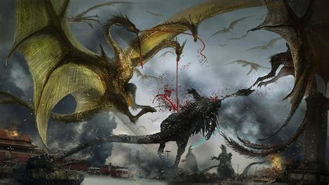 Legion Of King Ghidorah Dragons Inflict Armageddon On
