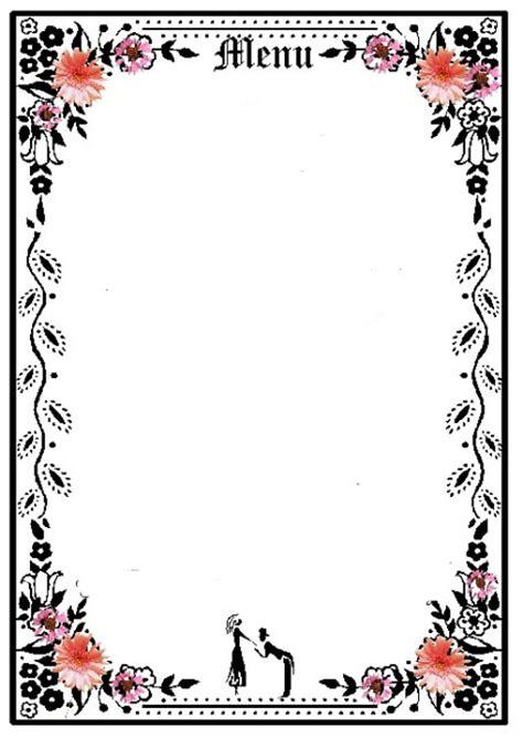blank menu daycare menu planning printables infocap ltd