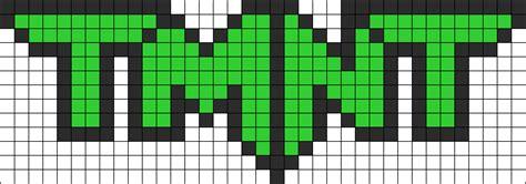 teenage mutant ninja turtles logo perler bead pattern