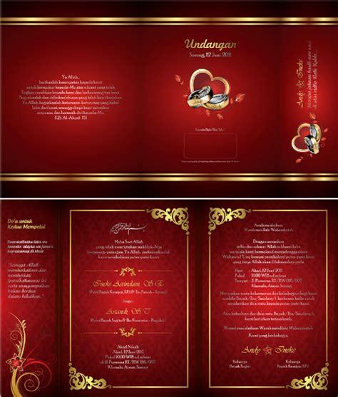 contoh undangan pernikahan motif batik contoh hu
