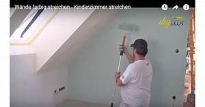 Streichen Decke Wand übergang : kinderzimmer streichen w nde farbig streichen video anleitung ~ Eleganceandgraceweddings.com Haus und Dekorationen