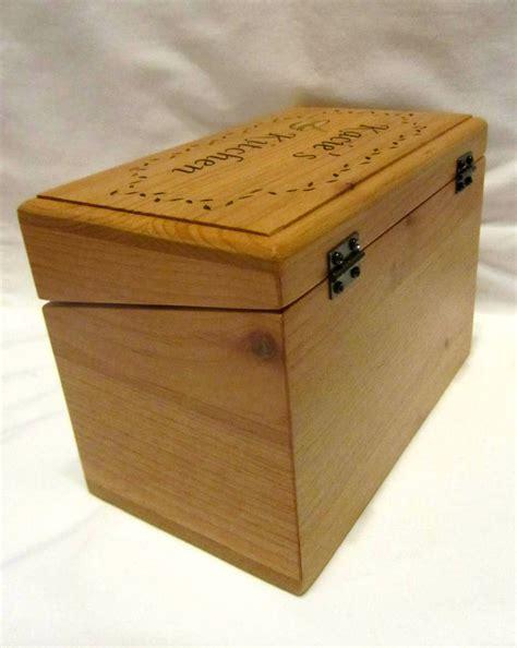 custom engraved wooden recipe box style