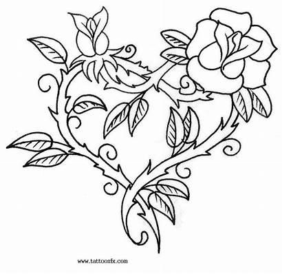Tattoo Designs Tattoos Heart Rose Drawings Drawing