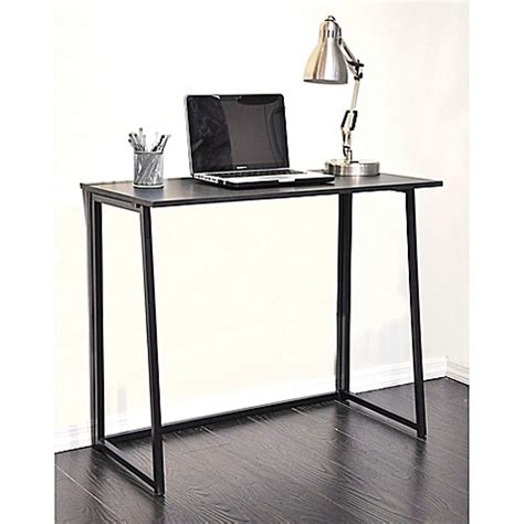 writing desk for bed wooden folding writing desk in black bed bath beyond