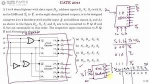 Gate 2015 Ece Realization Of 1 To 8 Demux Using Two 2 To 4