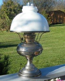 antique rayo silver nickle finish kerosene oil table l