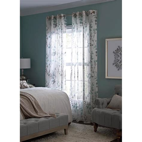 And Drape Lowes - allen roth candian 95 in blue polyester grommet semi