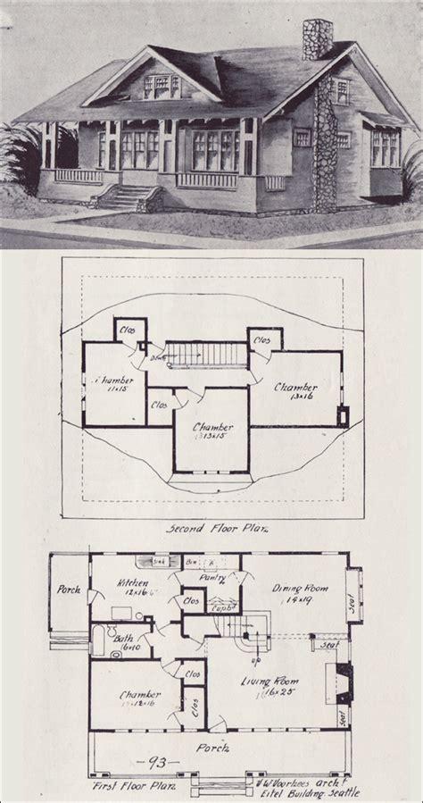 vintage house plan western home builder bungalows  victor voorhees seattle