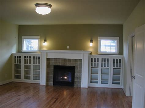 Craftsman Style Built In Bookcases by I Married A Tree Hugger Built In Fireplace Inspiration