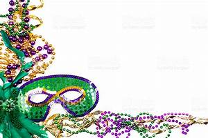 Mardi Gras Background Purple Gold Green Mask Beads stock ...