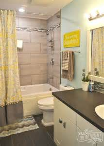 gray and yellow bathroom ideas bathroom reveal and some great tips for post reno clean up the diy