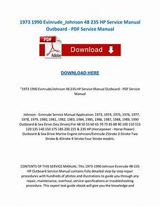 1973 1990 Evinrude Johnson 48 235 Hp Service Manual Outboard Pdf Service Manual By