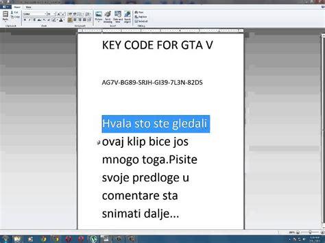 Key Code For Gta V