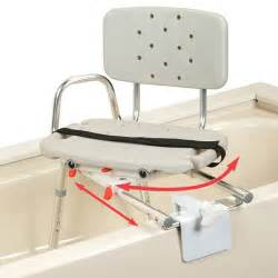 snap n save sliding tub mount transfer bench with swivel seat