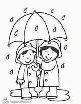 Kleurplaat Paraplu Tekenen Laten Zelf Kls Verwijderen Regen Coloring Het sketch template