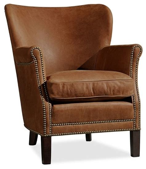 brixton leather armchair toffee contemporary