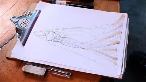 draw  wedding dress fashion sketching youtube