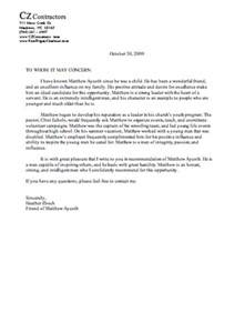 letter of recommendation for a friend letter of reference