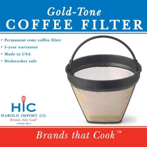 Best coffee filters reviews & buying guide 2019 1. gold tone #2 permanent cone coffee filter, brown - Walmart ...
