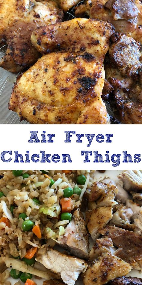 thighs chicken fryer air cook boneless skinless