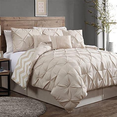 geneva home fashion 7 piece ella pinch pleat comforter set