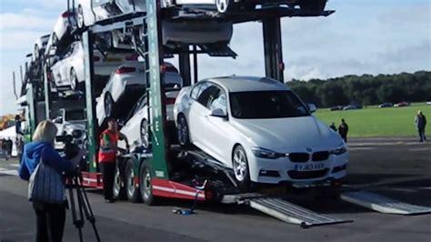 eddie stobart car transporter unloading  stobart fest