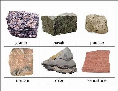 Rocks Rock Minerals Cards Science Classified Identification