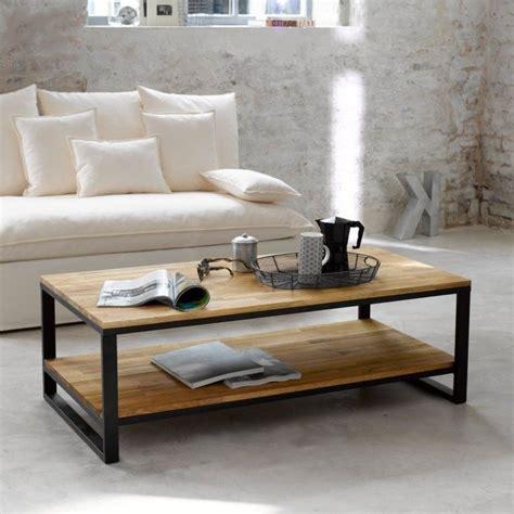 Table Ronde Industrielle Und Canapé Annecy Pour Deco Table Basse Rectangulaire Bois Rétro Décoindustriel