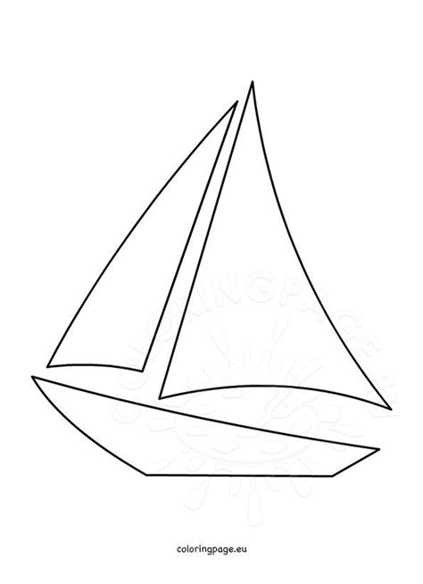 sailboat template printable coloring page
