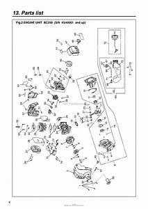 Red Max Bc250 10 S  N Ku40001  U0026 Up Parts Diagram For 003