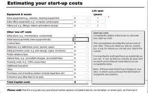 Business Start Up Expenses Template