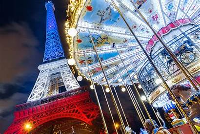 Eiffel Paris Tower France Carousel Night Desktop