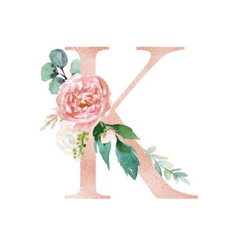 buchstabe letter  monogram wallpaper flower typography floral letters