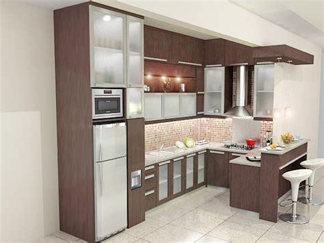 kitchen set modern bentuk   meja pantry dian