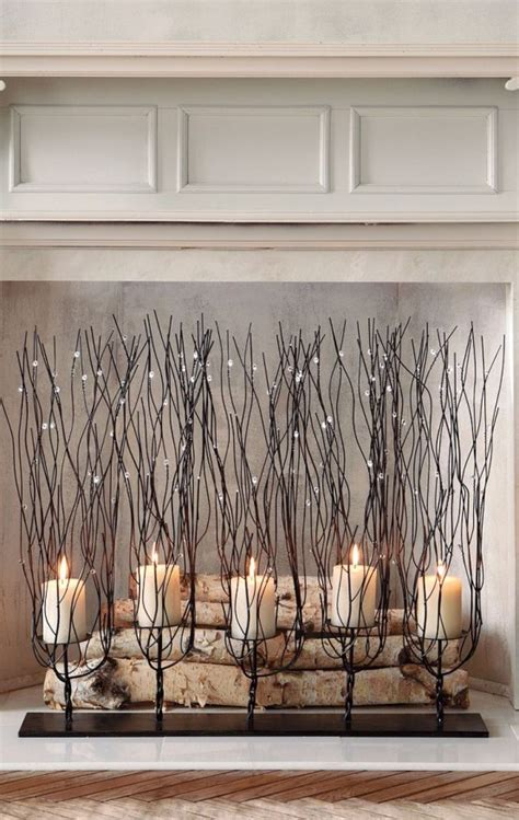 fireplace candle holders 30 adorable fireplace candle displays for any interior